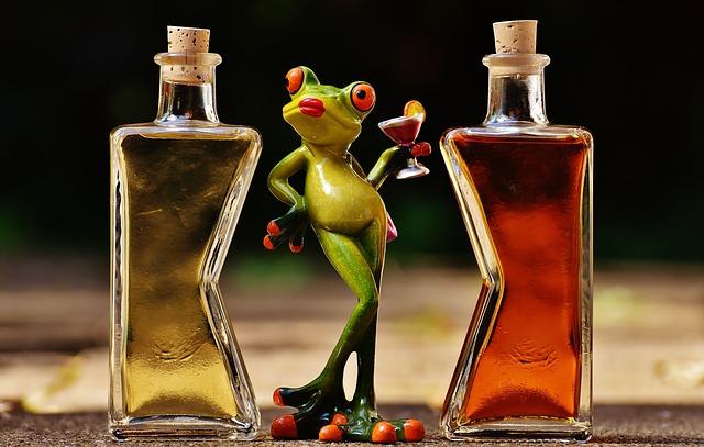 žába a likéry