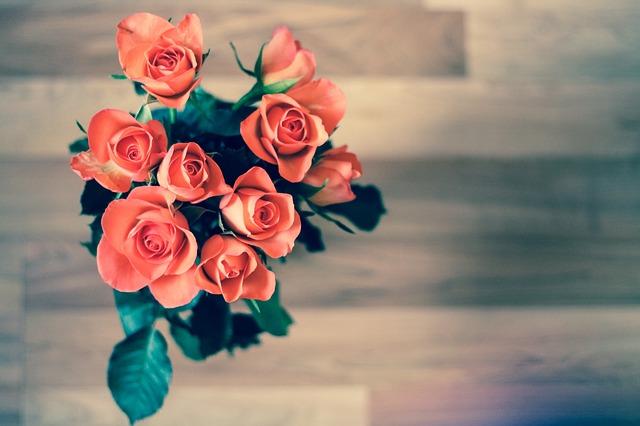květina na zemi