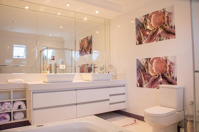 bodová světla v koupelně